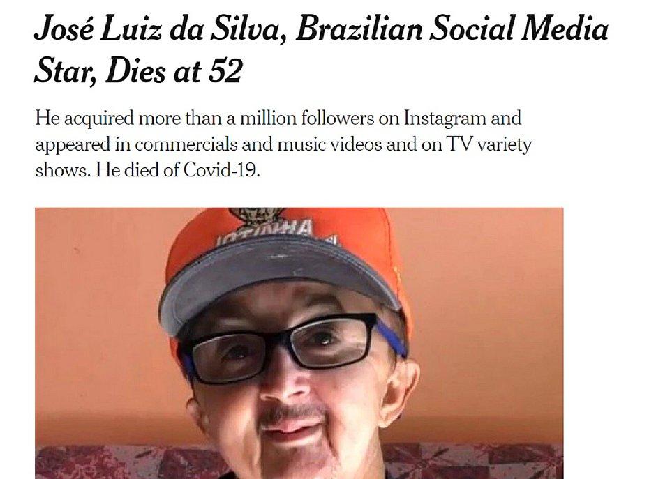 Jotinha ganha homenagem em obituário do jornal The New York Times