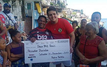 Depois de perder barco em forte chuva, pescador recebe R$ 30 mil em doações