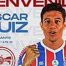 Oscar Ruiz estava no Cerro Porteño e chega para reforçar setor carente no Bahia