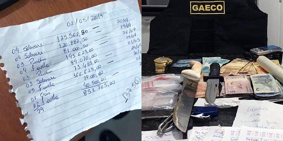 Polícia encontrou anotações em material apreendido