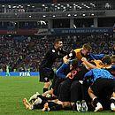 Croácia eliminou Rússia diante de estádio lotado