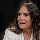 'Em 2002, fui chamada de terrorista e hoje sou chamada de fascista', afirmou a atriz Regina Duarte em entrevista no Conversa com Bial