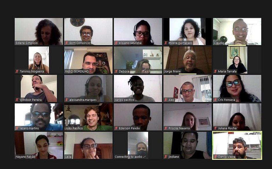 Palestra online sobre propósito feita pelo Bomconsórcio com funcionários