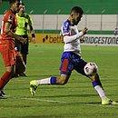 Patrick em lance do jogo do Bahia contra o Guabirá
