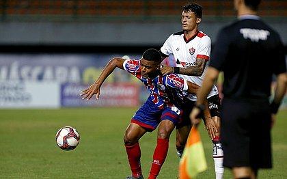 Zagueiro Mateus Moraes foi uma das sete novidade do Vitória no clássico estadual