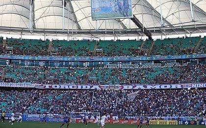 Último jogo do Bahia com público no estádio foi no dia 7 de março de 2020, contra o Confiança