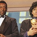 Pelé e Maradona em premiação