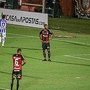 Jogadores do Vitória lamentaram gol sofrido no primeiro tempo