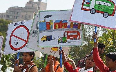 Desenhos em Nova Deli.
