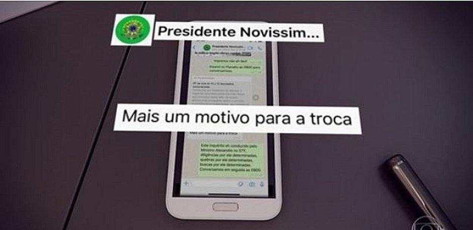Moro entrega provas contra Bolsonaro ao Jornal Nacional
