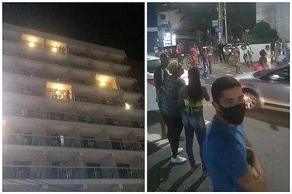 Hóspedes de hotel promovem 'chuva de dinheiro' na Barra: 'Virou um Carnaval'