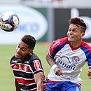 Artur participou dos três gols do Bahia na partida