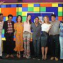 Equipe comemora as novidades na TV Bahia