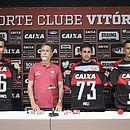 Bruno Gomes, Meli e Benítez são apresentados pelo presidente Ricardo David