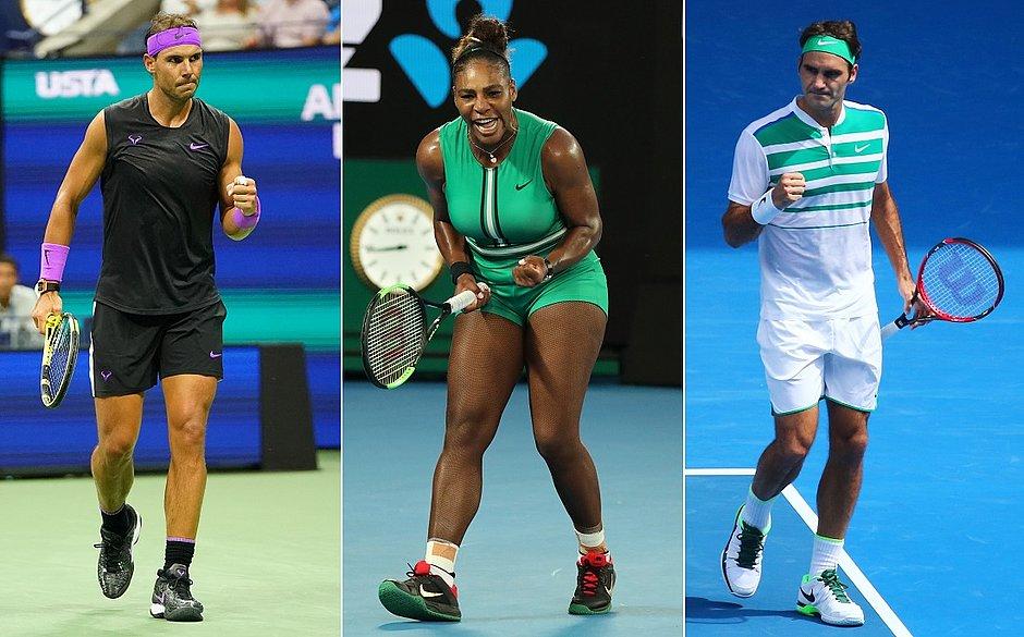 Nadal, Serena e Federer ajudarão vítimas de incêndio na Austrália