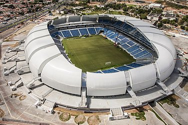 Casa do América, a Arena das Dunas é um dos três estádios de Copa do Mundo usados como mando oficial. Capacidade: 31.375 pessoas