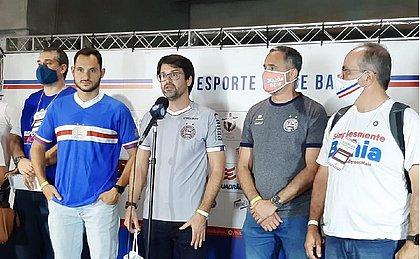 Ao lado de Vitor Ferraz, Guilherme Bellintani vai comandar o Bahia pelos próximos três anos