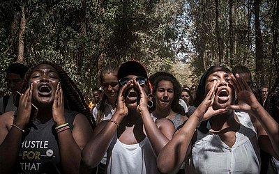 Estudantes da Escola Estadual Braeburn Garden de Karura em Nairobi.