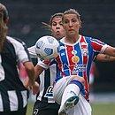 Moretti, em lance de disputa de bola; Bahia ficou no 0x0 com Botafogo