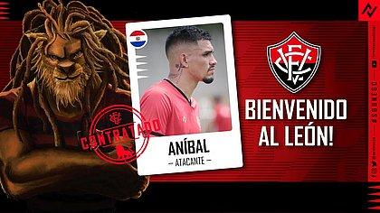 Paraguaio Aníbal Vega é o novo atacante do elenco do Vitória