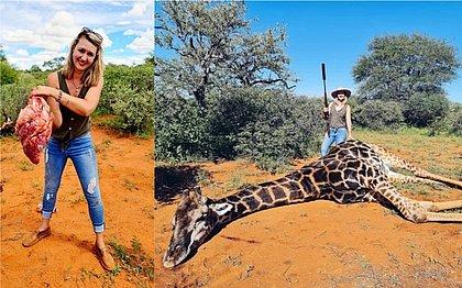 Mulher mata girafa como 'presente de dia dos namorados' e causa revolta na web