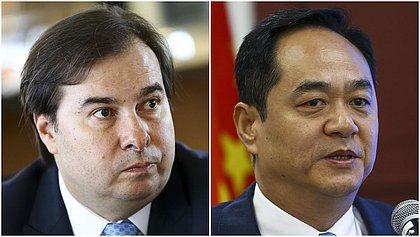 Embaixador chinês promete acelerar tramitação de insumos da vacina em reunião com Maia