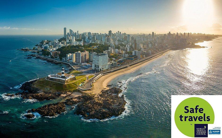 Salvador é o primeiro destino do Brasil a ganhar selo de turismo seguro