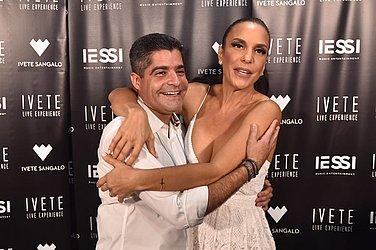 O prefeito ACM Neto com Ivete Sangalo antes do show da virada