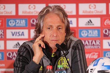 Jorge Jesus concedeu entrevista coletiva em Doha na véspera da final do Mundial de Clubes