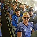 Elenco do Bahia volta no mesmo avião que o do Vitória