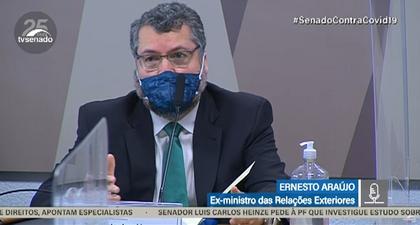 Ex-chanceler Ernesto Araújo é ouvido na CPI da covid; assista