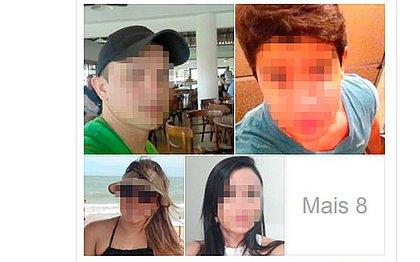 Fotos de alguns dos alunos denunciados em montagem postada em grupo de Facebook