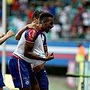 Moisés comemora gol na Fonte Nova