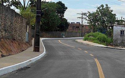 Rua Petronília Dércia após as intervenções