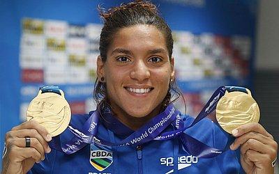 Ana Marcela nadou quatro provas e ganhou duas medalhas de ouro neste Mundial