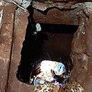 Presos cavaram túnel para fugir