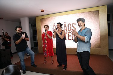 Gustavo Fernandez , Thelma Guedes e Duca Rachid e Andre Camara