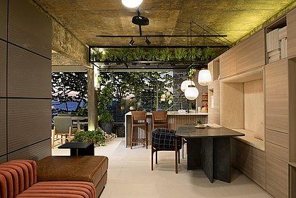 Cozinha é o ponto central e de convivência do ambiente