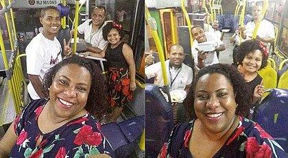 Família passa ano-novo em ônibus para acompanhar pai cobrador