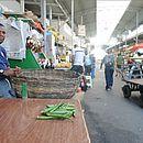 Seu Carlito, feirante em São Joaquim, vendia os últimos quiabos