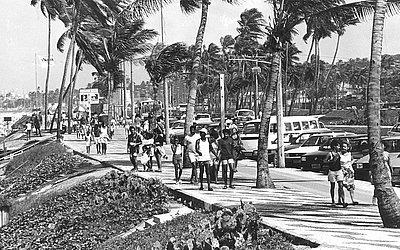 Calçadão de Jaguaribe, em julho de 1993