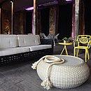 Lounge do Afro Fashion Day ambientado com móveis da Baú+