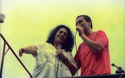 Gal e Ricardo Chaves em 2000