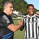 Orlando Rollo e Robinho: presidente do Santos afirmou que ficou incomodado com áudios do jogador