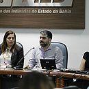 Fernanda Vaqueiro e Rafael Caubit da Oi e a advogada Ana Paula de Moraes, em painel sobre segurança de dados