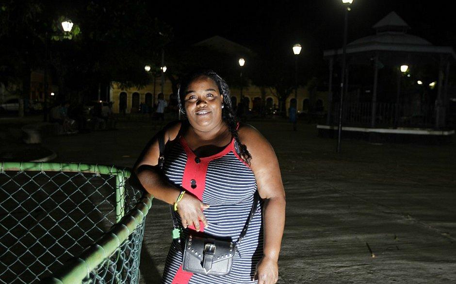 Edilza Santana Gomes, 35 anos, mãe de duas crianças e moradora do Aquidabã