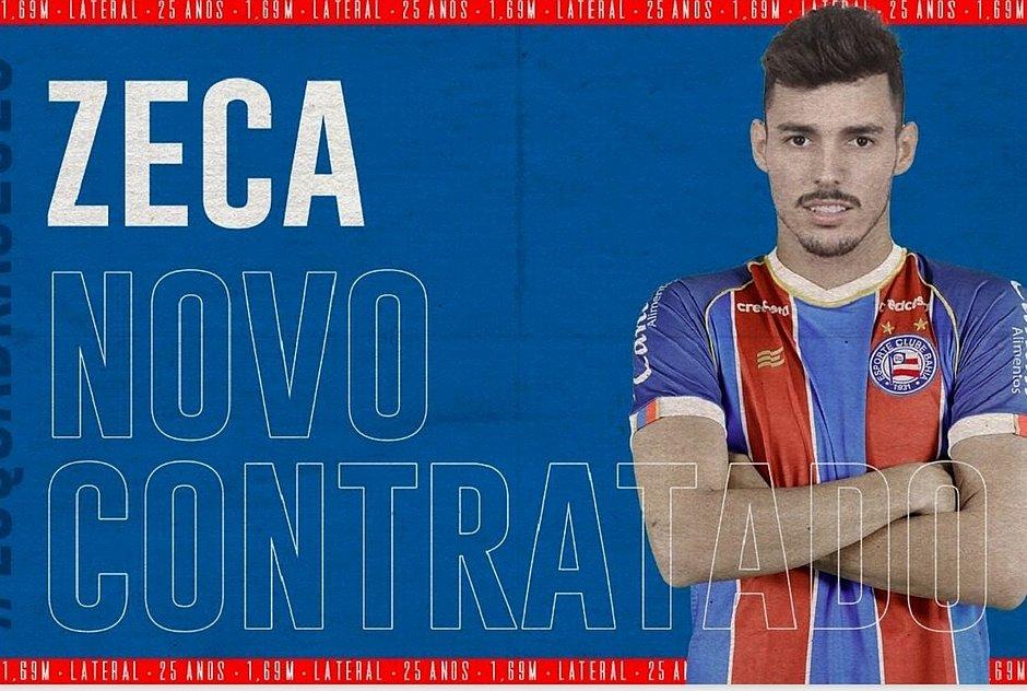 Bahia anuncia a contratação do lateral Zeca, do Internacional