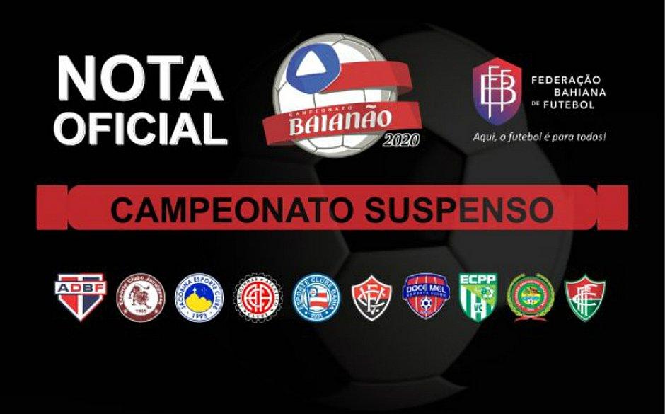 Federação volta atrás e decide suspender Campeonato Baiano