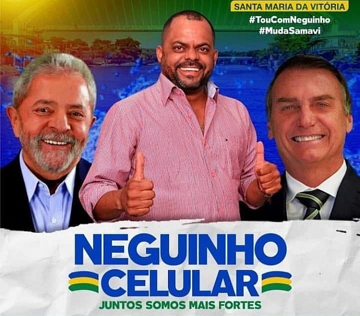 Pré-candidato a vereador na Bahia usará Lula e Bolsonaro para pedir votos