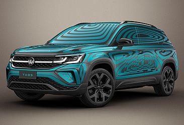 O Taos foi revelado ainda com camuflagem. Só dia 13 a VW irá apresentar o SUV sem esse disfarce